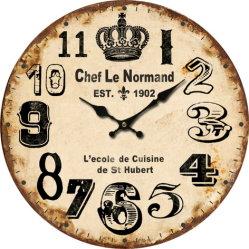 Papier Vintage classique MDF Promo Horloge murale en bois MDF