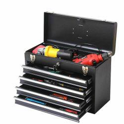 Boîte à outils 4 tiroirs de fer matériel portable poitrine ménage Boîte à outils multifonction avec verrou