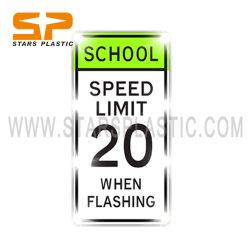 Traffico dell'OEM che avverte il segno riflettente di limite di velocità del banco della strada del segno di Lit direzionale del bordo