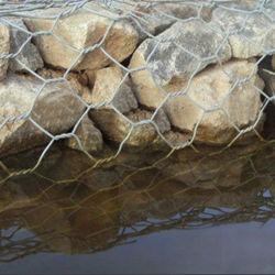 Galvanizado recubierto de PVC Yq pesada malla de alambre hexagonal
