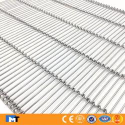 304 de Riem van het Netwerk van de Transportband van de Link van de Ladder van het roestvrij staal voor het Koken
