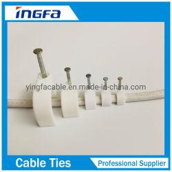 ワイヤの固定に使用するスチール製ネイルプラスチックホルダクリップ
