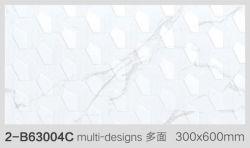 12x24 дюймов/30x60 см белого каррарского стеклянные стены плитка для ванной комнатой и кухней