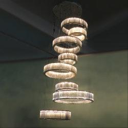 مصباح بندول من لوحة السقف K9 Clear Strip وMirror SS.