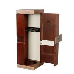 Ds personalizada de la fábrica de madera sólida caja de regalo de vino Vino botella individual Embalaje Embalaje Caja de vino