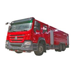 Het Water van HOWO 6X4 Sinotruk 6000L en het Vechten van de Tanker van het Schuim Vrachtwagen voor Brand