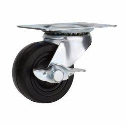 La gomma nera ha frenato la parte girevole per le rotelle della macchina per colata continua delle mobilie