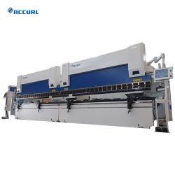 Tándem de prensa de doblado CNC 400t4000 con Da66t del sistema de control de flexión de tubos metálicos maquinaria
