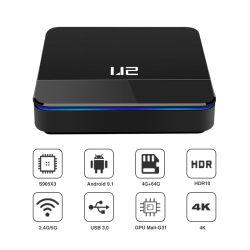 Smart Home Set Top Box caixa de TV IPTV Android Market 9.1 Lpddr3/4 2GB/4GB USB3.0 Bt 4.1 Caixa de TV de controle de voz