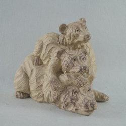 Brown-Bär Polyresin Bär, Polyresin Bären-Statue-Fertigkeiten