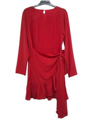 女性のための赤いカラーひだの底女性服