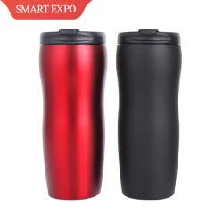 Tazza dell'acqua di Inox di vuoto isolata parete gemellare della tazza di caffè dell'acciaio inossidabile chiavetta dell'acqua di due strati del Thermos del caffè inossidabile 400ml/14oz della tazza