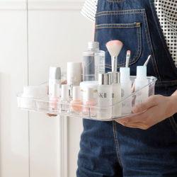 크고 투명한 향수 메이크업 오거나이저 아크릴 화장품 스킨케어 Dresser Table용 Bottles Organizer