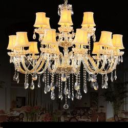 램프 갓 (WH-CY-36)를 가진 금 가지가 달린 촛대 수정같은 샹들리에