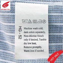 Custom imprimé des étiquettes de soins de lavage clair à Guangzhou