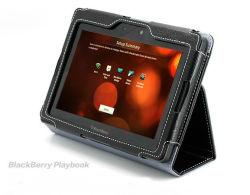 حاوية مصنوعة من جلد الكمبيوتر اللوحي، حقيبة عالية الجودة لدفتر BlackBerry Playbook