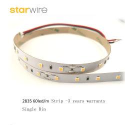 Prcie de fábrica de 3 anos de garantia flexível/Tubo rígido de 60LED/M2835 SMD Fita LED de luz para o Hotel Office