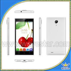 Multi couleurs double carte SIM de 5 pouces Mtk6572 3G Téléphone cellulaire