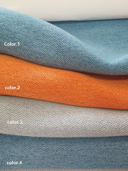 2021 nueva ropa de cama doble cara como pieza de cortina Dimout Teñido de color 100% poliéster cortina de tela de cáñamo