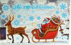 Красивые рождественские статические цепляется за наклейку с Санта Клаусом
