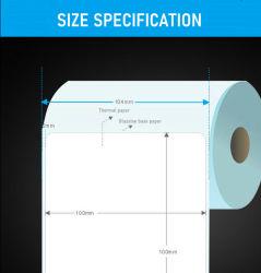 熱間販売用ゼブラ / Dymo 粘着式 4X6 インチ熱伝導プリント ダイレクトサーマルステッカー用紙にラベルを付けます