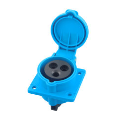 IEC309 Wasserdichte IP44 2/3/4/5-Phasige Stromsteckdosen mit Gerader Flanschbuchse für Industriesteckdosen (3031601)