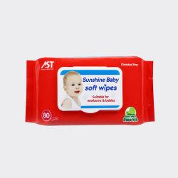 Бесплатный образец Spunlace OEM нетканого материала влажных салфеток популярные стиле дешевые биоразлагаемых малыша влажных салфеток