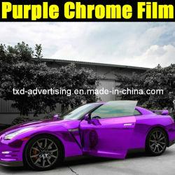 2013 новых Chrome фиолетовый виниловая пленка для автомобиля устройство обвязки сеткой