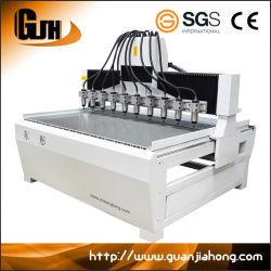 일본 서보 모터, 대만 스퀘어 레일, Wood CNC 라우터 머신, 멀티 스핀들 CNC 조각 머신
