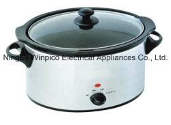 4,5 l (5.10QT) Slow Cooker, acier inoxydable, de forme ovale