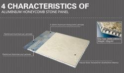 4 Características en forma de panal de aluminio del Panel de Mármol y Granito