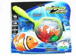 Fonctionne sur batterie nano + 2 poissons de récifs + poignée Net