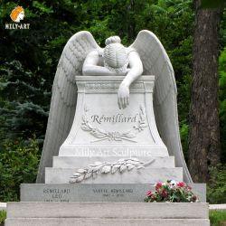 Tomba marmo pietre di testa piangenti Angeli Tombstone