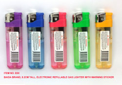 전자 다시 채울 수 있는 가스 점화기, Baida 점화기 (E8X)