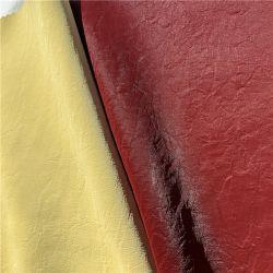 Veludo mercerizado PU/couro artificial sintética de PVC para revestimento de tecido de mobiliário têxtil