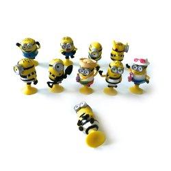 Plástico coleccionáveis personagens de desenhos animados Mini-PVC Action Figure com Ventosa