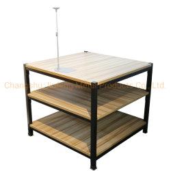 Supermarché Steel & Assemblée Châssis de plancher de bois d'étagères étagères d'affichage de la promotion de boissons Promption tableau
