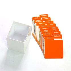 주문을 받아서 만들어진 디자인 카드 놀이를 인쇄하는 주문 교육 기억 장치 종이 플래시 카드 트럼프패