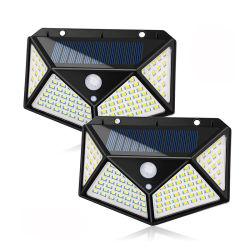 P65 de fábrica resistente al agua fácil de instalar las luces de seguridad para puerta delantera patio, garaje cubierta solar 100 LED luces del sensor de movimiento