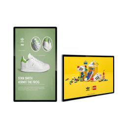 Usine Kingone Indoor Ad Video Player 32 43 55 pouces écran tactile Multi Digital Signage monté sur un mur de la publicité l'écran LCD