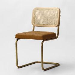 كرسي تناول الطعام الخشبي المصنوع من الخيزران مصنوع من خشب الروطان Kvj-6551