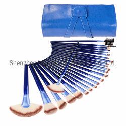 kit blu professionale della spazzola delle estetiche dell'insieme di spazzola dell'artista di trucco 24PCS con il sacchetto cosmetico dell'unità di elaborazione