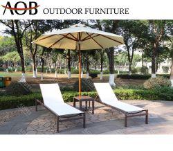 Patio moderno Hotel Resort Villa Hogar Muebles de Exterior apilable Tumbona Hamaca Silla de playa con sombrilla