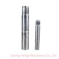Aangepaste precisie CNC-machinale bewerking van de motoras met splines voor smeedsplines/ 416ss A.