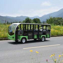 14 Passager Elektrische Resort Auto / Sightseeing Bus / Toeristische Elektrische Auto met Portier gebruikt Scenic achter