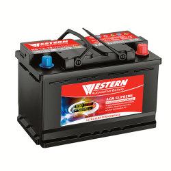 12V70Ah H6 Mejor AGM Automotive Auto Batería para el automóvil híbrido Iniciar-detener coche Varta tipo Exide