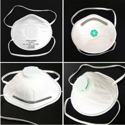 Desechables Non-Woven Mascarilla FFP2 Cup-Shaped Half-Face regulado por válvulas respirador (JC1001V).