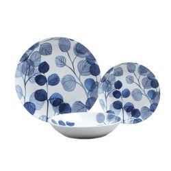 流行のテーブルウェア白い瀬戸物のディナー・ウェア16PCSの陶磁器の磁器の食事用食器セット