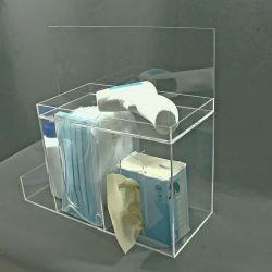 Erogatore multifunzionale per la casella di memoria acrilica della radura della maschera di protezione per il sapone liquido dei tessuti del termometro della maschera di protezione