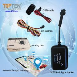 GPS Tracker Mt05-Wy GPS para coche Moto Dispositivo de rastreo de vehículos con 1 año gratis software de rastreo y app para Android